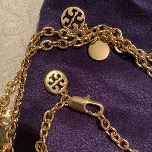 Gold Tory Burch Necklace